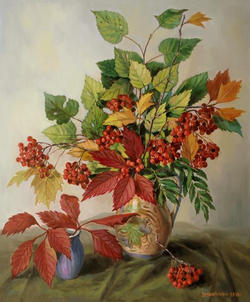 Натюрморт с листьями плюща