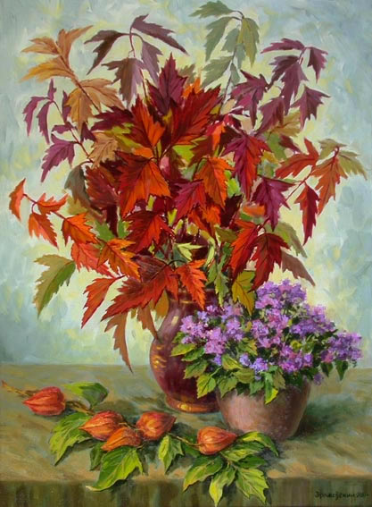 Осенний букет с физалисом